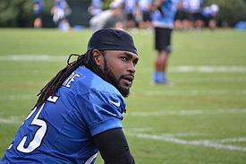 Mikel Leshoure at the 2012 Detroit Lions training camp.jpg