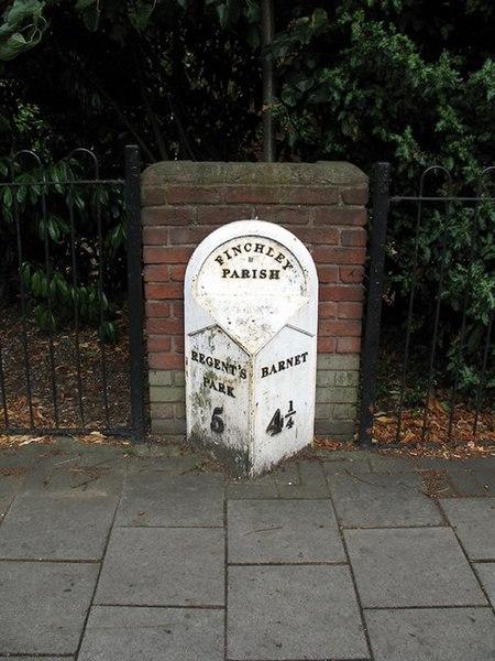 File:Milestone on Regents Park Road - geograph.org.uk - 212656.jpg