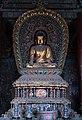 Ming era statue of Amitabha (阿彌陀佛 or 阿弥陀佛; Āmítuófó), one of the Five Tathagathas (五方佛 Wǔfāngfó) or Five Wisdom Buddhas (五智如来 Wǔzhì Rúlái) at Huayan Temple (华严寺), Shanxi, China.jpg