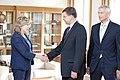 Ministru prezidents V.Dombrovskis tiekas ar Eiropas Parlamenta Rūpniecības, pētniecības un enerģētikas komitejas deputātiem un Eiropas Elektronisko sakaru regulatoru iestādes (BEREC) vadību (7886158688).jpg