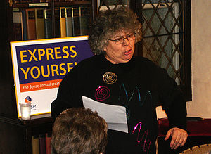 Miriam Margolyes - Margolyes reading an extract from Oliver Twist at the Express Yourself creative writing awards, 2006