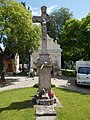 Missio chapel, 19th century cross in Esztergom, Hungary.jpg