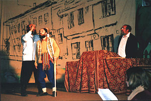 Drama Art Scene - Members of the Society acting in a theater play