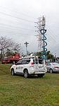 Mobile Phones Base Station Cars of Taiwan Mobile Parked at Nanhu Ricerside Park North 20150204.jpg
