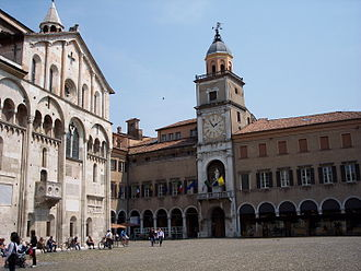 Modena - Modena Cathedral (left) and City Hall (right)