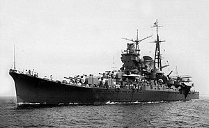 Japanese cruiser Mogami (1934) - Mogami in July 1935, shortly after commissioning.