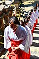 Monks in Kasuga-taisha shrine in Nara 06.jpg