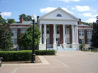 University of Mary Washington - Monroe Hall was constructed in 1911, serving as the first academic and administration building for the university. Its plan is inspired by Palladio's Villa Rotunda and houses several of the university's humanities programs.