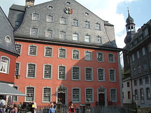 "Karl Wilhelm Scheibler - The ""Red House"" of Monschau, ancestral home of the Scheibler family"
