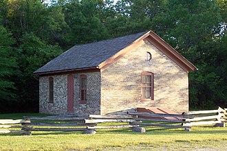 Greenfield, Wisconsin - Montag-Boogk Cream City Brick Home