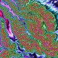 Montana Rockies south of Glacier NP Topo Rainbow Zebra 1734.png