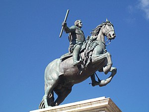 Pietro Tacca - Philip IV of Spain in the centre of Plaza de Oriente in Madrid.