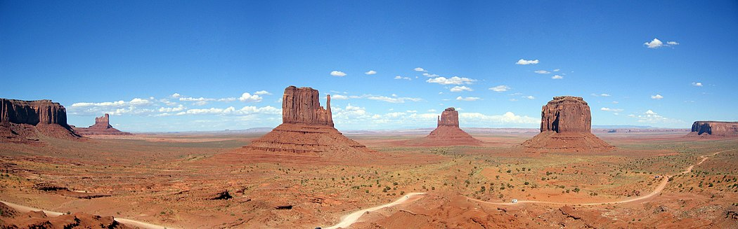 The Mittens, sandstone formations in Monument Valley, Navajoland - Wikipedia image
