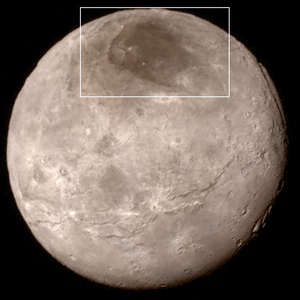 Mordor Macula - Mordor Macula is located at Charon's north pole.