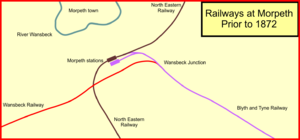 Blyth and Tyne Railway - Morpeth railways