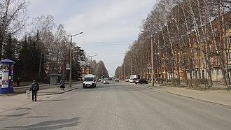 Morskoy Prospekt, Novosibirsk - Image: Morskoy prospekt in Novosibirsk