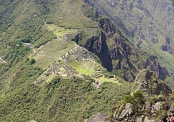Mosaique du Machu Picchu depuis le Huayna Picchu.jpg