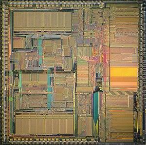 MC88110 - Die of Motorola MC88110.