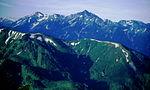 Mount Tate and Mount Tsurugi from Mount Asahi 2000-07-30.jpg