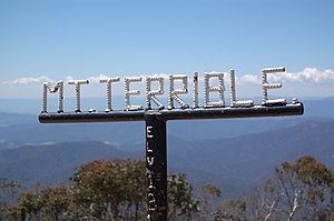 Mount Terrible (Victoria) - The sign at the summit