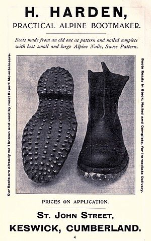 Mountaineering boot - Mountaineering boots from 1911