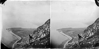 Mountains and sea (stereograph)