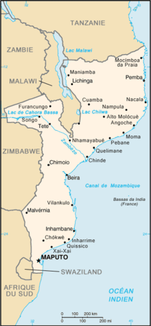 Description de l'image Mozambique carte.png.
