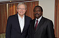 Mr Rudd with Kenyan Vice President Hon Stephen Musyoka. (10699258595).jpg