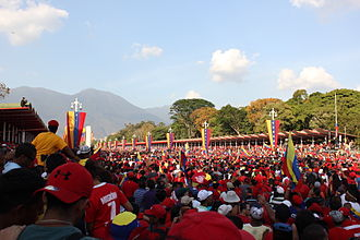 Death of Hugo Chávez - Chávez's funeral procession