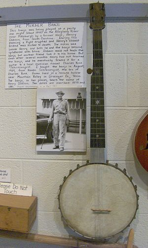 "Appalachian music - The so-called ""Murder Banjo"""