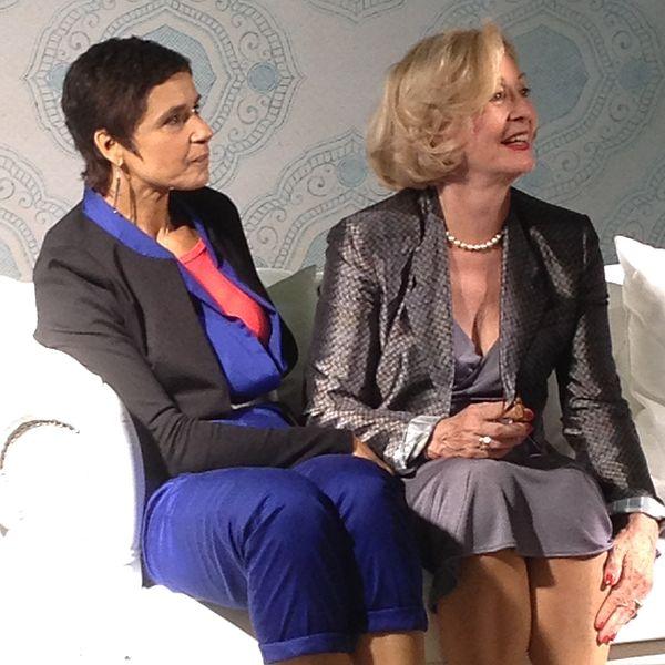 Muriel Bats (Mayra) en Leah Thys (Marianne) op de Thuisdag 2014