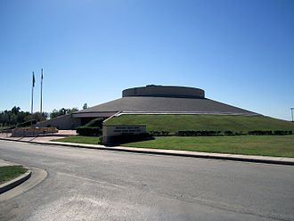 Muscogee (Creek) Nation - Muscogee (Creek) Nation Mound building. Seat of government for both Legislative and Judicial branches of government