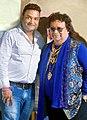Music Director Sanjib Sarkar With Bappi Lahiri.jpg