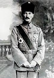 Atatürk, mentre era Comandante dell'esercito (1918).