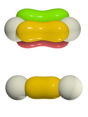 Wannier function - Wannier functions of triple- and single-bonded nitrogen dimers in palladium nitride.