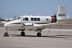 N828Q Beechcraft Queen Air (8970311571).jpg