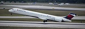 Palm Beach International Airport - Delta Air Lines McDonnell Douglas MD-90 at PBI