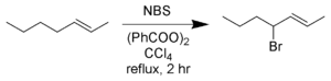 N-Bromosuccinimide - Allylic bromination of 2-heptene