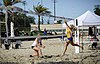 NCAA beach volleyball match at Stanford in 2016 (26517288255).jpg