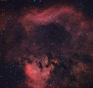 NGC 7822 - Amateur image (south at top)