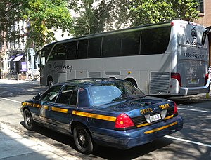 New York State Police - A Troop L patrol car in New York City, in September 2010.