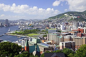 Nagasaki City View from Glover Garden, Nagasaki 2014.jpg