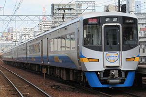 Nankai 12000 series - A 12000 series set on a Southern service in August 2015