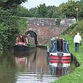 Narrowboats below Meaford Top Lock, Trent and Mersey Canal, Staffordshire - geograph.org.uk - 555656.jpg
