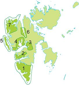 Map of national parks at Svalbard; this is #1
