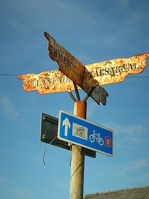 National Cycle Network - Route 8 sign near Harlech, North Wales