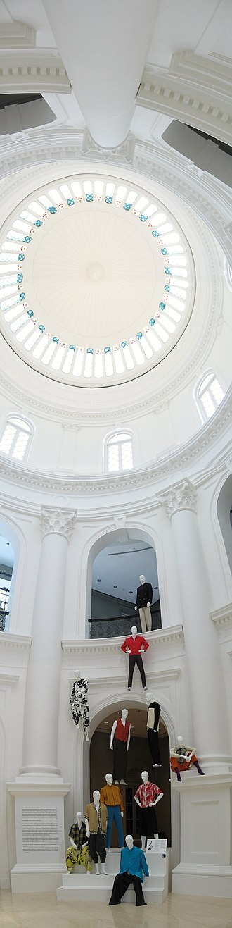 National Museum of Singapore - Interior of the rotunda, topped by a dome.
