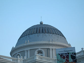 National Museum of Singapore - The dome consists of 3,000 zinc fish-scaled tiles and stained glass panels.