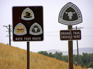 National Trails System - Signs used along the historic and scenic trails to mark the modern roads and significant points.