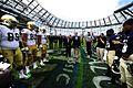 Navy-Notre Dame pregame coin toss.jpg